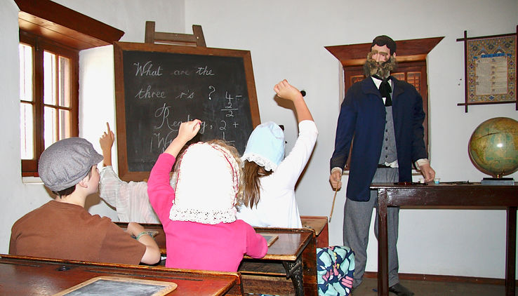 museum schoolhouse children history schooling church
