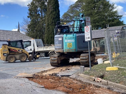 21 Sept - Excavator working