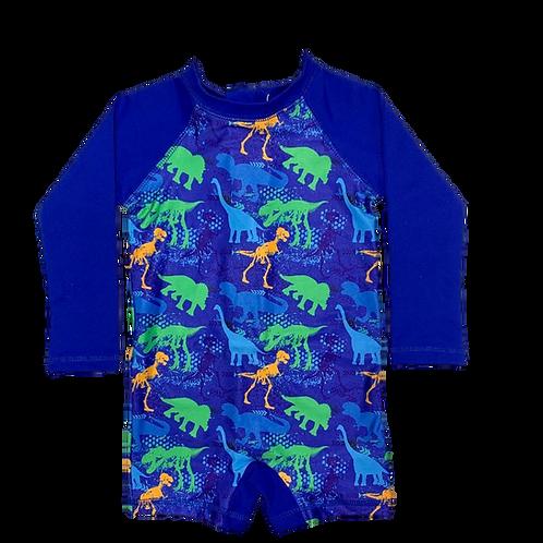 Macaquinho de praia Infantil com proteção solar Dinossauros