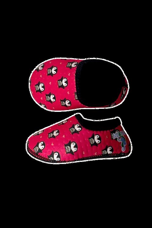 Sapato térmico de atividades Neoprene Pinguim Rosa