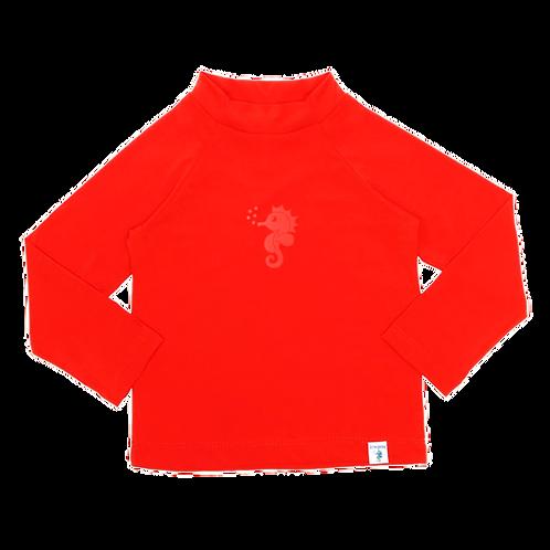 Blusa de proteção solar FPU 50+ Vermelha