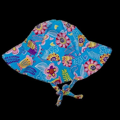 Chapéu de proteção solar Floresta Azul