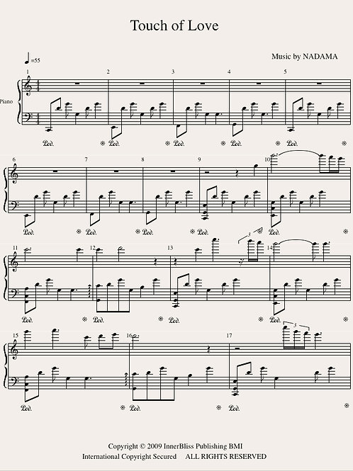Touch of Love Piano Score