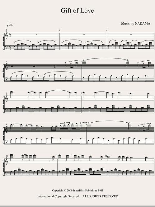 Gift of Love Piano Score