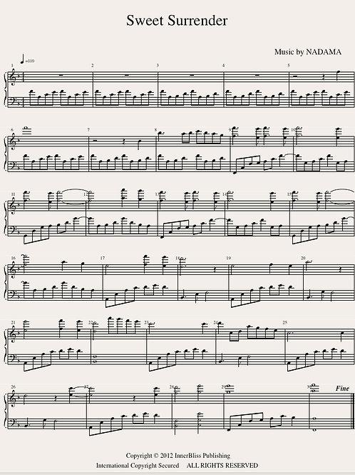 Sweet Surrender Piano Score