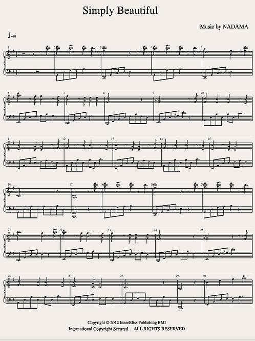 Simply Beautiful Piano Score