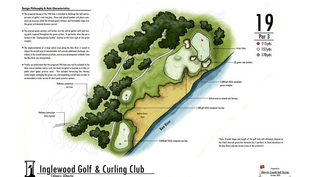 Inglewood Golf and Curling Club - Conceptual Hole #19 Development