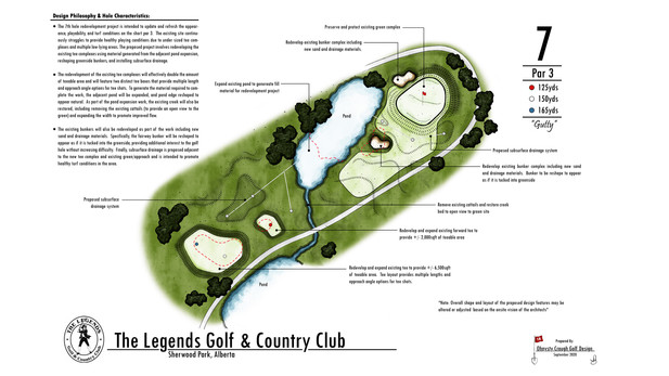 Legends Golf Club - Hole #7 Renovation Project