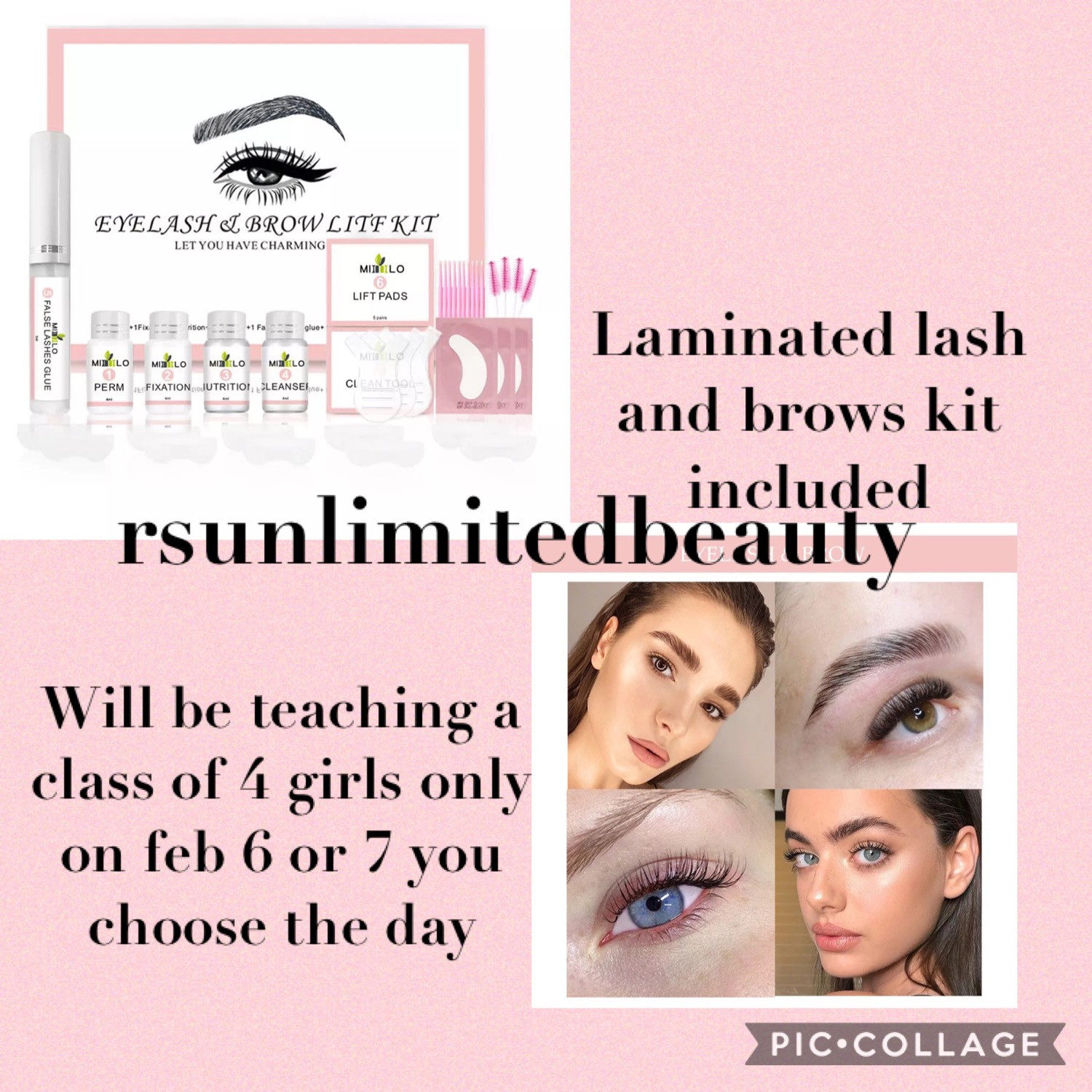 Brow and lash lamination class