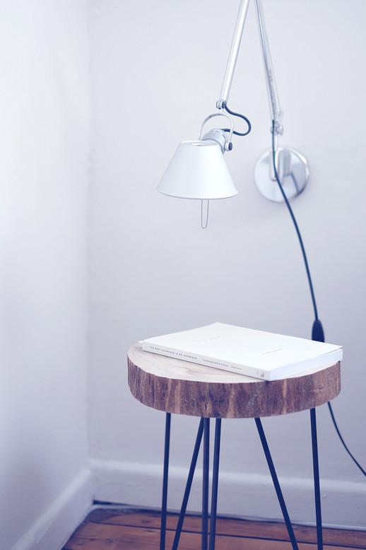 Tabela de madeira sólida