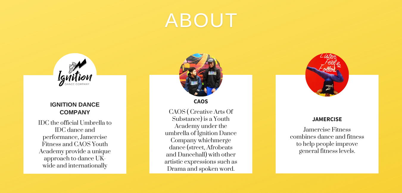 Yellow and Black Theater Actor Portfolio