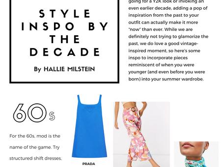Fashion Nostalgia: Style Inspo by the Decade