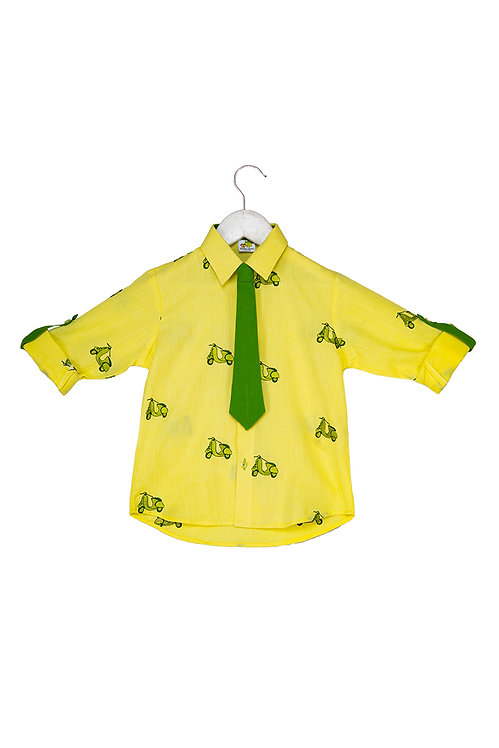 Bus Roll up shirt with tie Scooty
