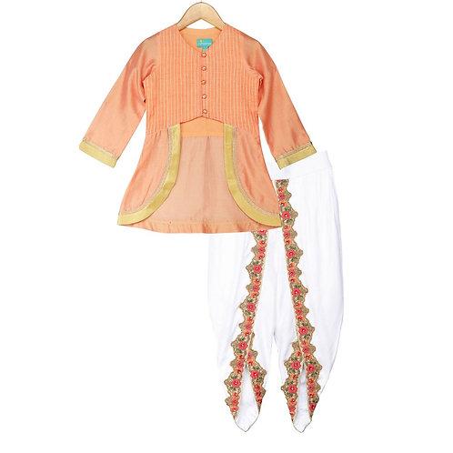 Royal Marigold Dhoti Set