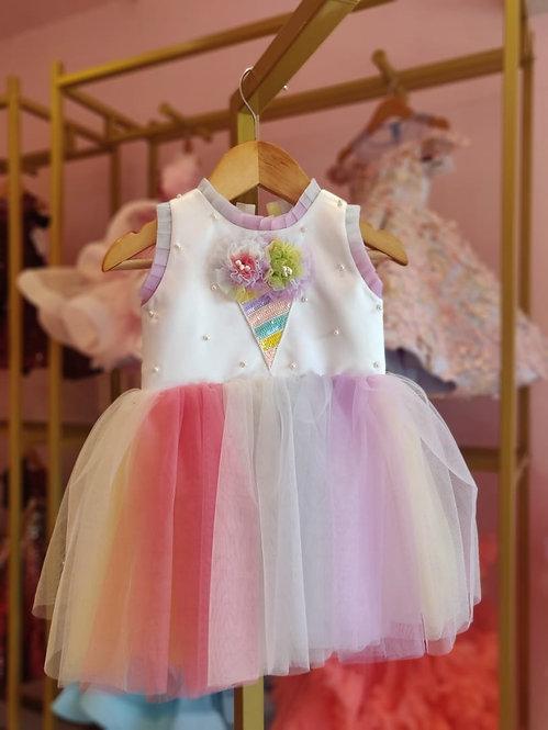 Icecream-Multi Colour Dress