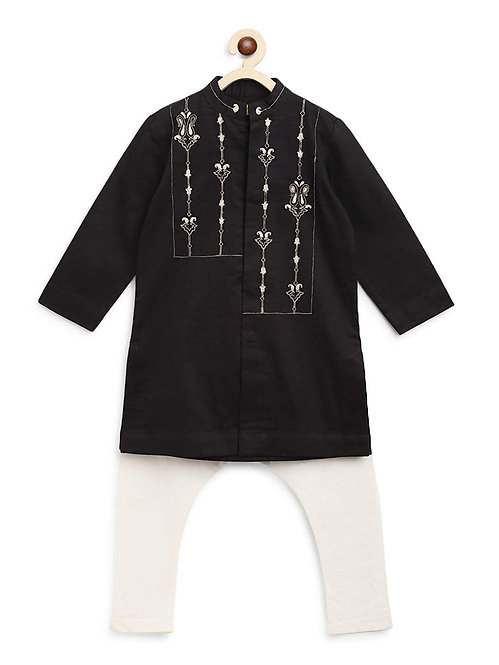 Boy Black Persian Kurta Set