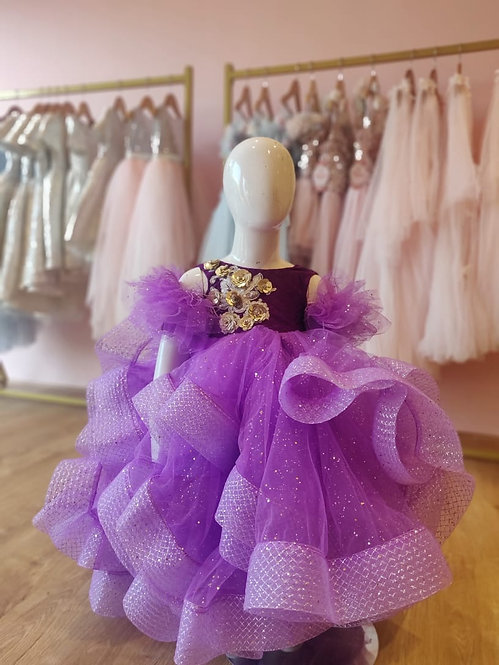 Shades Of Purple Gown