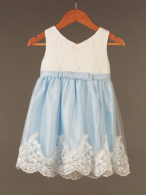 Blue Arendale Dress with hair accessory