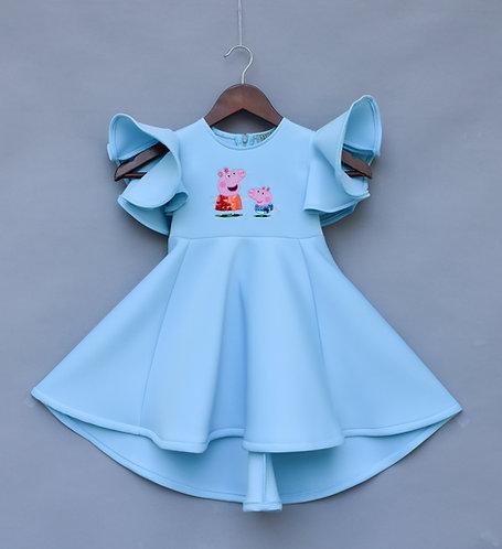 Blue Lycra Peppa Pig Dress