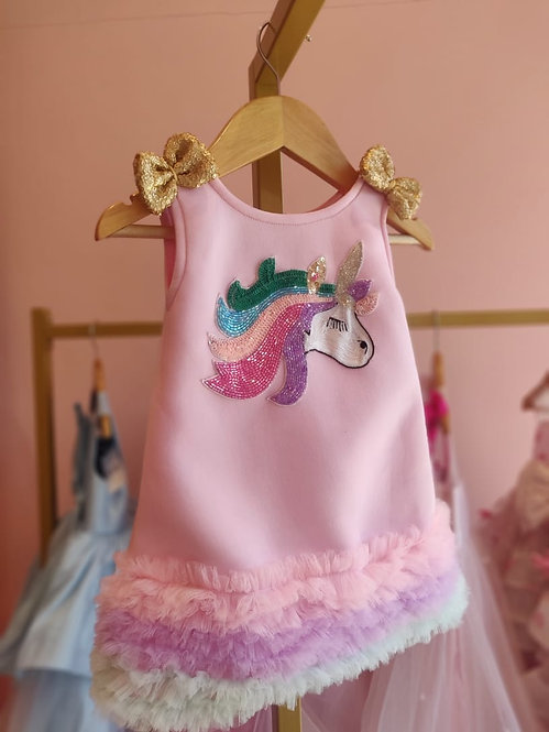 Pink Unicorn A-line Dress