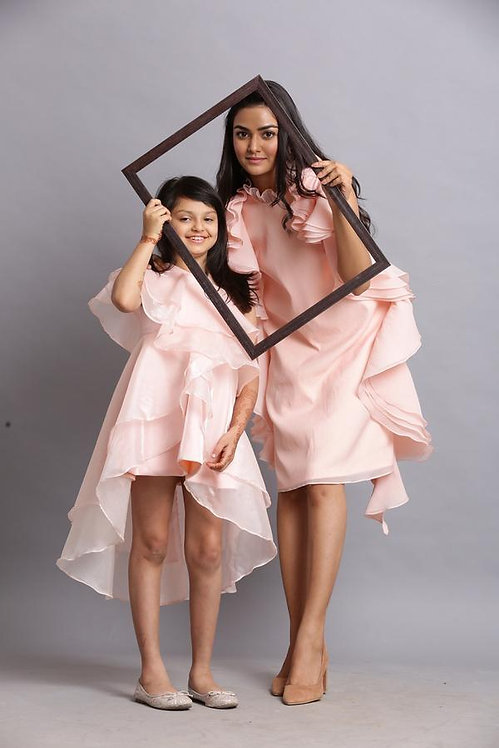 Moms Peach Shefone Dress