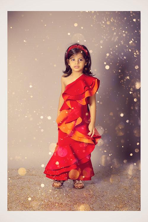 Orange Swede Gown