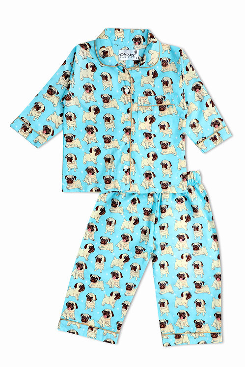 Adult - Funny Pugs Puppies Nightsuit