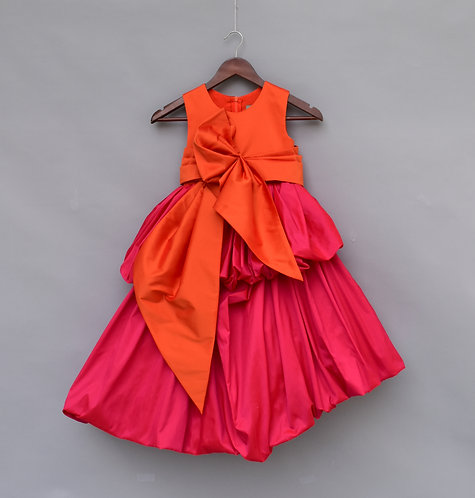 Hot Pink and Orange Gown