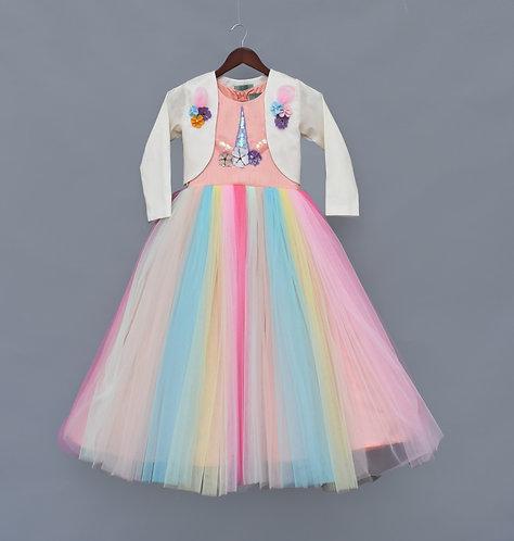 Multi Colour Unicorn Gown