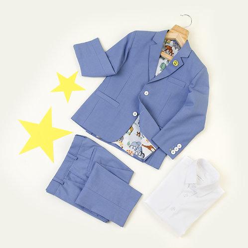 3 Pc Summer Suit-Blue