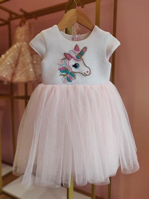 RS-Unicorn Embroidery Pastel Dress