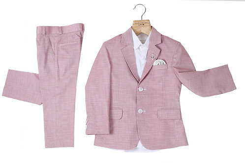Red Milange 3 Pc Shirts and Suits