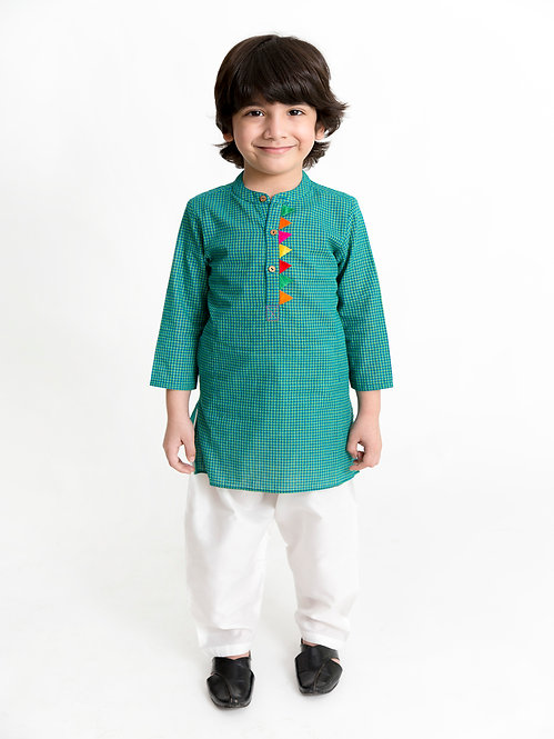 Stylish Boys Kurta Pyjama  Set-Blue