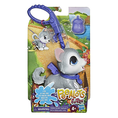 FURREAL FRIENDS Peealots Lil Wags Husky Interactive Pet Toy, Ages 4 and Up