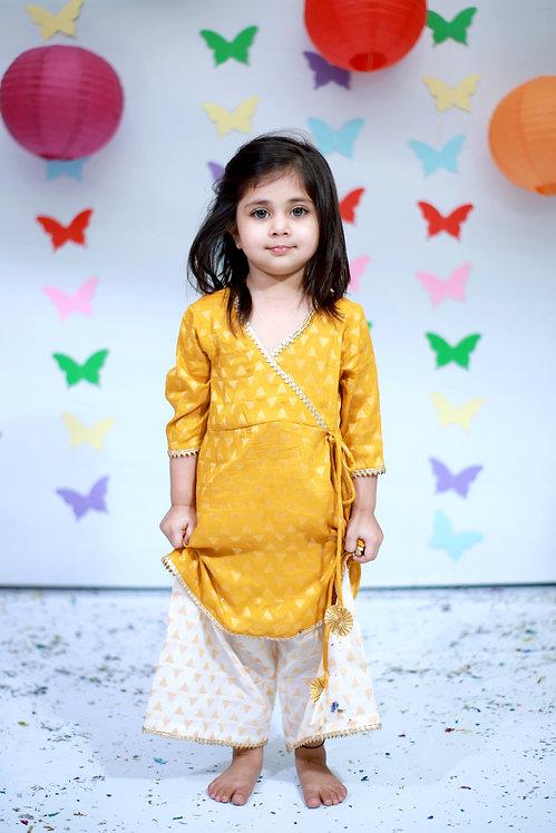 RS-Yellow angarakha with with patiyala