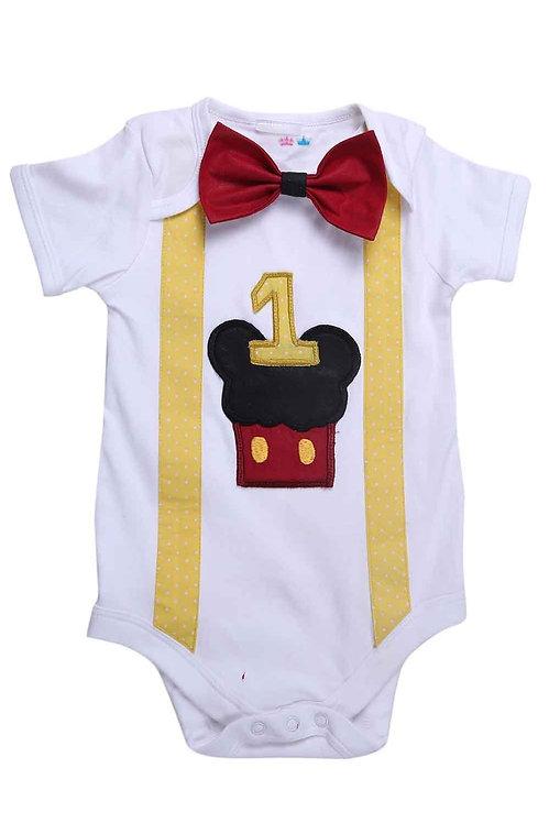 Mickey First Birthday Bodysuit