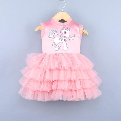 Rainbow Unicorn Pink Dress