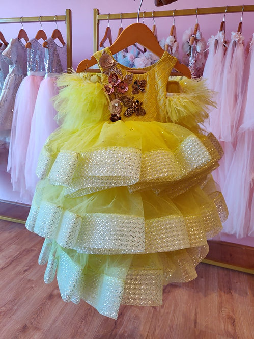 Neon Yellow Gown