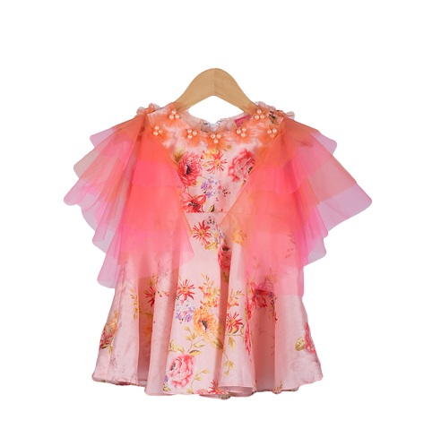 NGB Ruffle Sleeves Floral