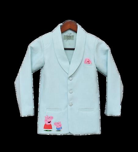 Blue Linen Coat