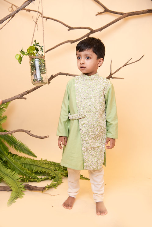 RS-Pastel Green Kurta Churidaar