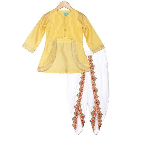 Royal Daffodil Dhoti Set