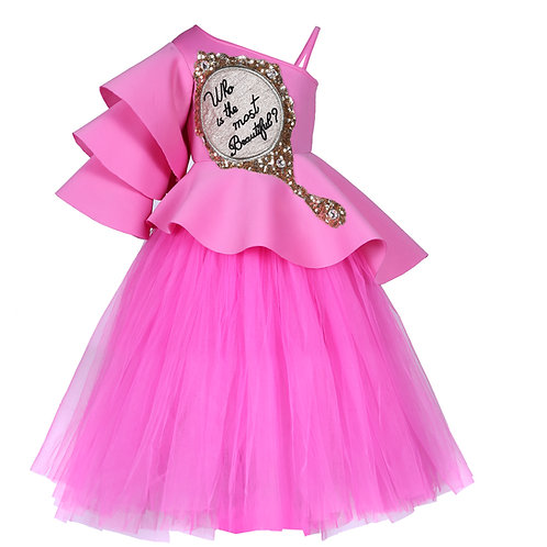 """""""Who's The Most Beautiful"""" Peplum With Full Skirt"""
