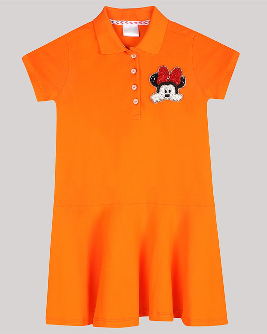 Polo Dress With Minnie Mouse Motif