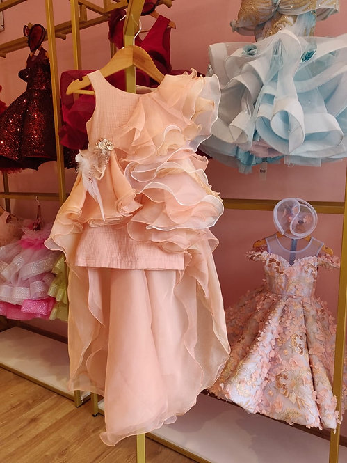RS-Peach frill gown