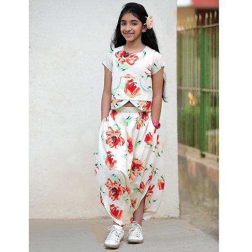 Whisper Spring Dhoti Skirt & Top