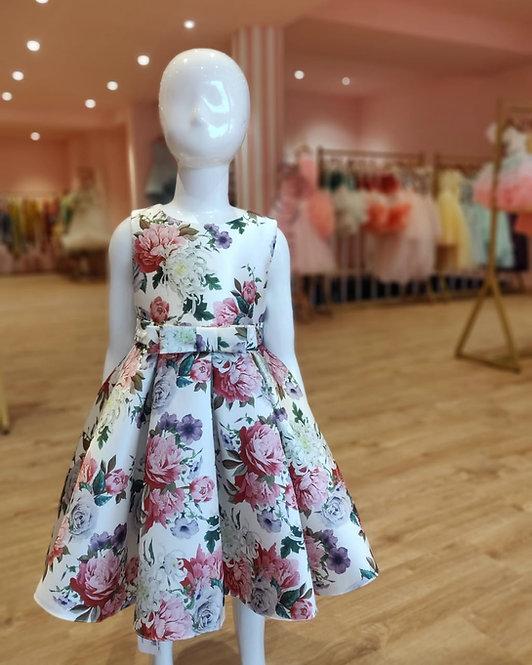 Printed Floral Silk Dress