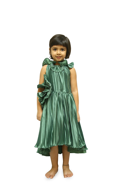 Green Pleated Frock
