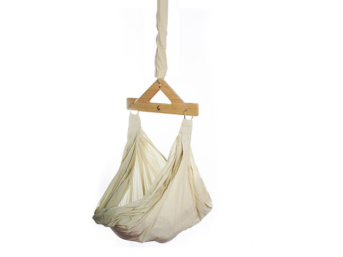 Baby Hammock/Cradle-Ceiling Hung - Organic Cotton and Wood