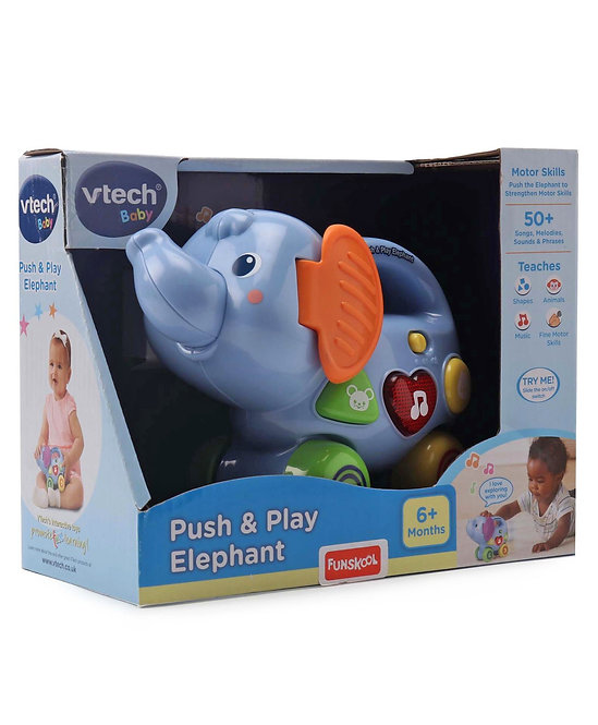 Vtech Battery Operated Push and Play Elephant Toy - Blue
